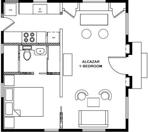 1 Bedroom Bungalow Floor Plans by One Bedroom Bungalow Floor Plans