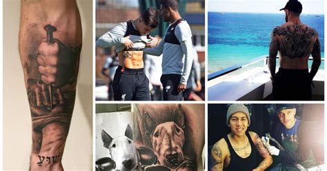 philippe coutinho shows off mickey mouse tattoo but