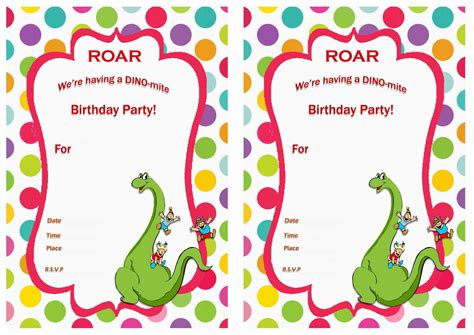 printable dinosaur invitation cards dinosaur birthday invitations birthday printable