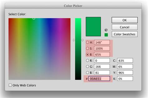 hex color selector color picker in indesign graphic design stack exchange