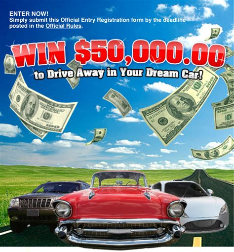 Sweepstakes Giveaways - win a new car enter to win 50 000 for a dream car