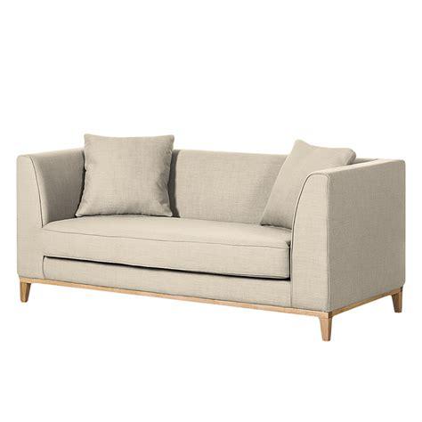 sofa blomma  sitzer webstoff beige home