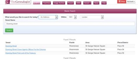 Name And Address Search Uk The Genealogist Research Guide
