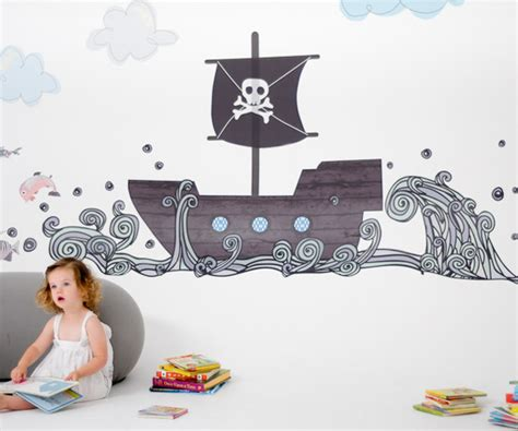 pirate ship wall stickers pirate boat fabric wall decals by pop lolli rosenberryrooms