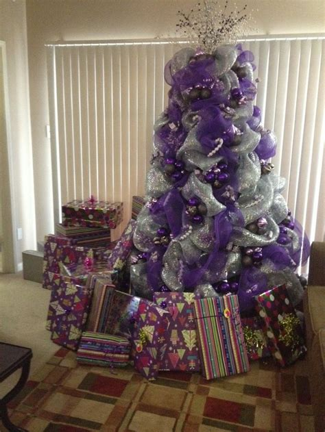 decorating with deco mesh tree decorating with purple deco mesh purple