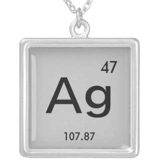Silver Periodic Table Symbol by Periodic Table Necklaces Periodic Table Necklace