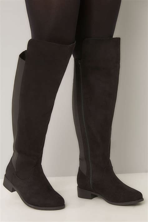 Can You Use A Mastercard Gift Card Online - black xl calf over the knee boots with stretch panel sizes 4eee to 10eee