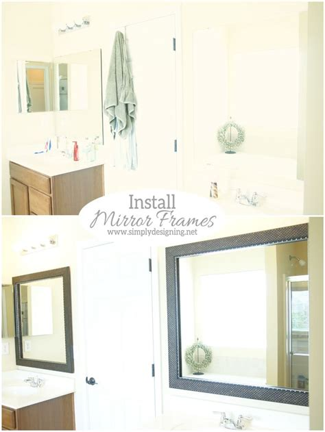 how to install a mirror in bathroom 17 best images about bathroom makeovers on pinterest