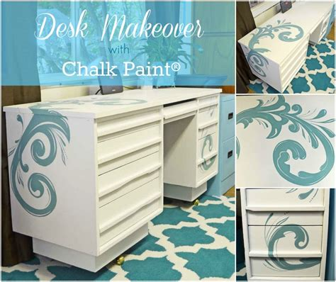 how to paint a desk painted desk with chalk paint 174 just paint it blog