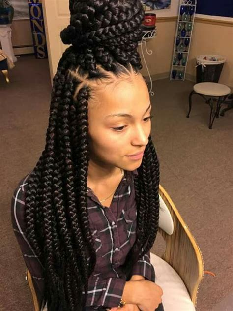 hairstyles with plaits ans weave braids hair pinterest big box braids protective