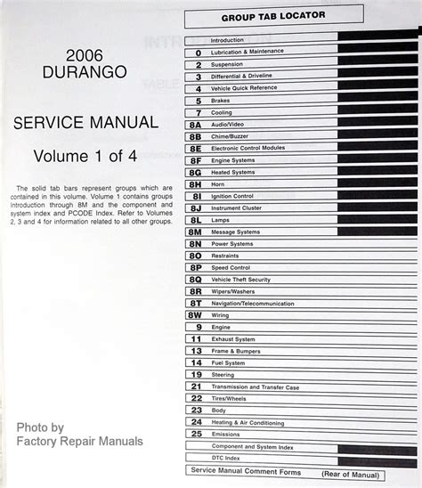 2001 dodge durango original service manual download manuals 2006 dodge durango factory service manuals original shop repair
