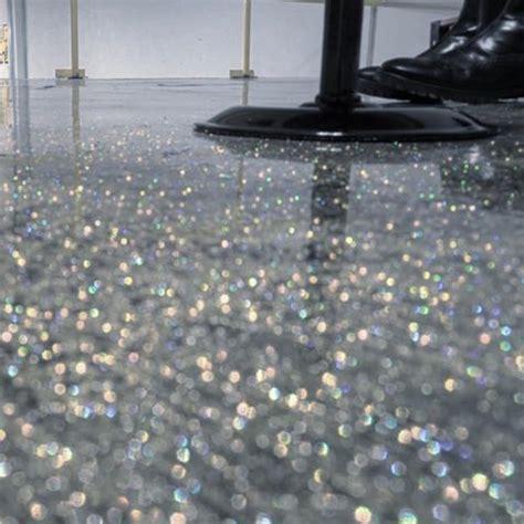 Simple Design Glitter Epoxy Floor DIY Metallic Application