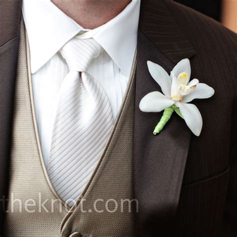 orchid boutonniere white orchid boutonniere