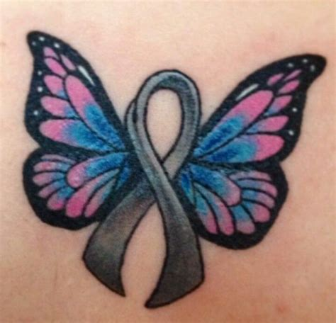 butterfly cancer ribbon tattoos collection of 25 pink cancer ribbon butterfly for