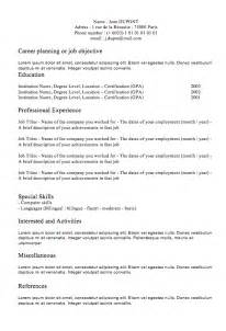 Classic Resume Template Word by Free Resume Builder Classic Resume 1 Exles Of Resumes