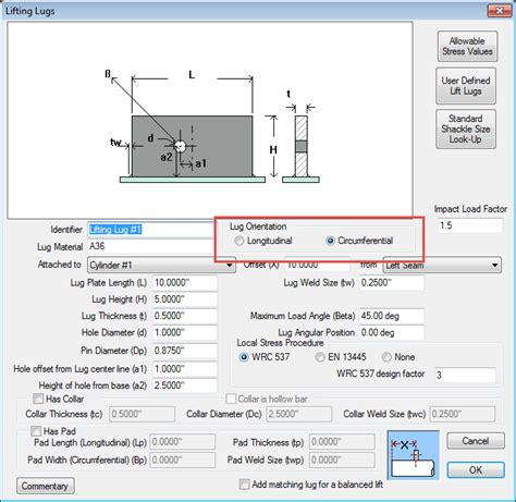 design criteria for lifting lugs what s new in compress 2016 webinar codeware
