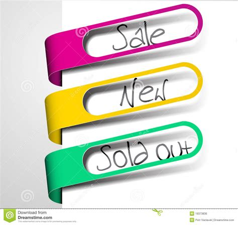 Sle Tags For Giveaways - paper tags for items in sale sold out and new royalty free stock image image 19373836