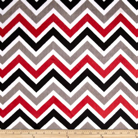 red white pattern zigzag shannon minky cuddle zig zag red black snow discount