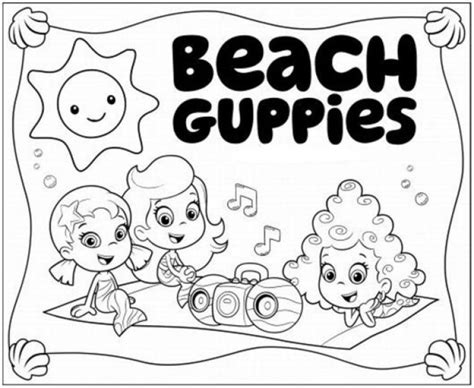 bubble guppies coloring pages nick jr bubble guppies molly oona and deema on picnic coloring