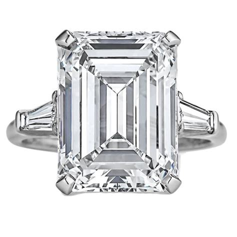 Harry Winstons Colored Rings Which One Would You Choose by Harry Winston 7 74 Carat Internally Flawless Emerald Cut