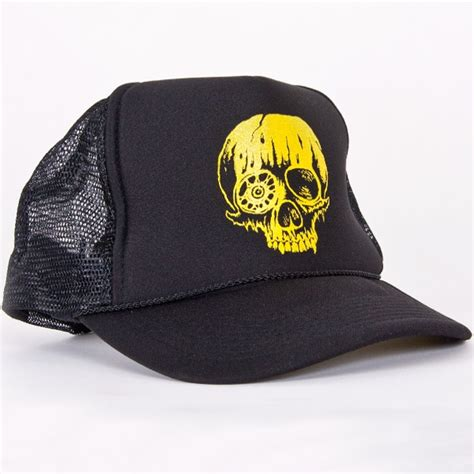 Topi Trucker Merch toxic holocaust quot skull quot trucker hats toxic holocaust