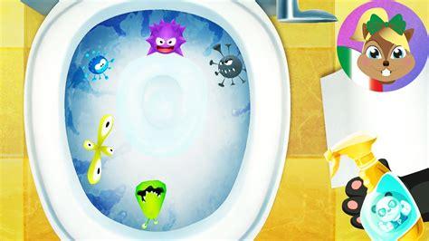 giochi pulire il bagno dr panda casa app per bambini giorno 2 pulire il