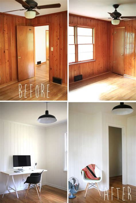painted wood paneling before after b b painted wood panelling before and after office