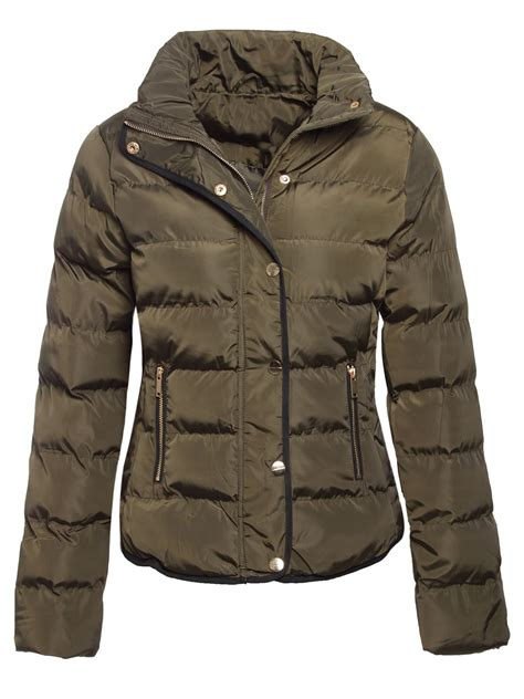 Coat Zipper Dea 7 brave soul womens quilted winter puffer padded jacket parka coat ebay