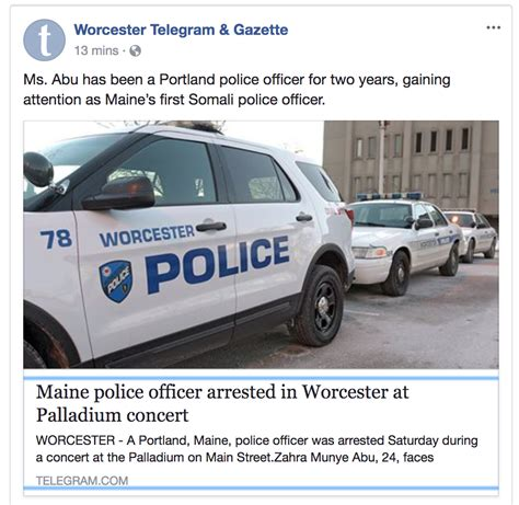 Telegram And Gazette Arrest Records Telegram And Gazette Shamelessly Breaks Story About Portland Cop Getting