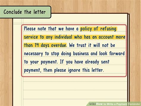 Reminder Letter To Client For Payment how to write a payment reminder 13 steps with pictures