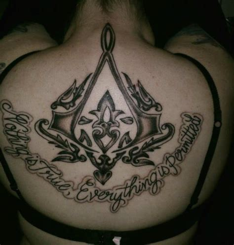assassin s creed back tattoo by keravalentine on deviantart