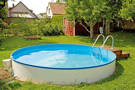 runder pool runder stahlwandpool inklusive handlauf sunday pools