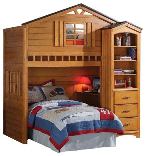 tree house loft bed  desk contemporary bunk beds