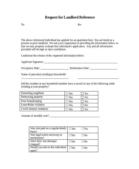 Reference Letter From Landlord To Immigration sle personal reference letter citybirds club