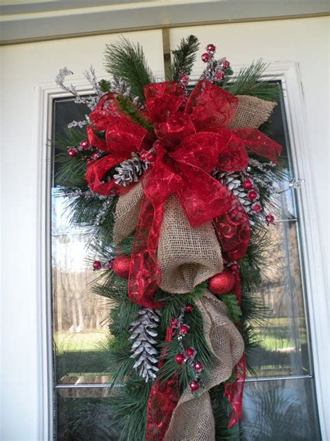 burlap teardrop door wreath burlap wreath by