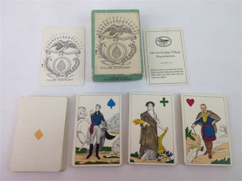Playing Card Gift Ideas - old sturbridge village reproduction playing cards 1st anniversary gift