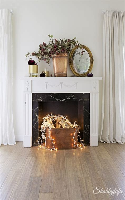 fake fireplace idea   dont   real