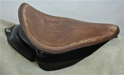 distressed brown leather motorcycle seat 2000 2013 rich phillips leather brown harley softail