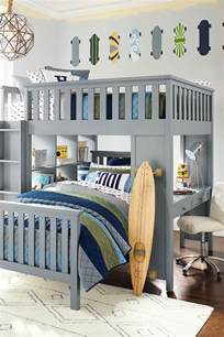 cool boys bedroom furniture blue bed white mattress