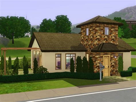 Starter Home Floor Plans mod the sims small starter cottage italian style