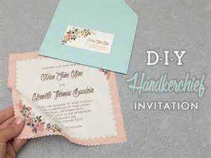 diy wedding invitations template diy vintage hanky wedding invitation with free template