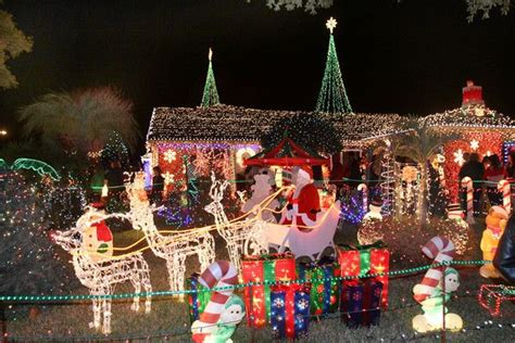 christmas lights at the home of rob and betty petersen at