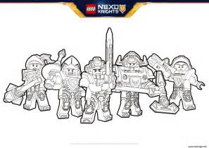 coloriage lego nexo knights formation jecolorie
