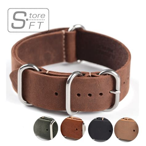 High Quality Leather Snks 18mm 20mm 22mm Tali Jam Kulit Asli 1pc sales high quality 18mm 20mm 22mm zulu leather band genuine leahter