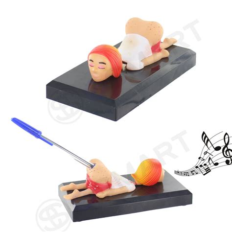 Novelty Funny Pen Holder Adult Sound Creative Fun Gift Novelty Office Desk Accessories