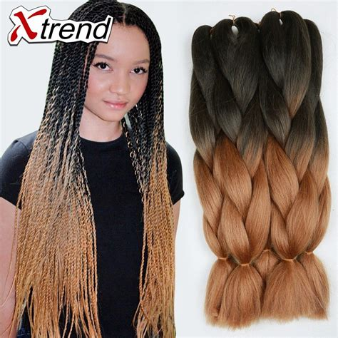 two toned braids two tone braiding hair 24 inch 1b 27