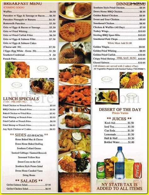 food for food for the soul with a twist books food menu soul food menu and southern food on