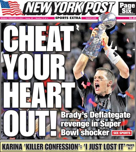 new york post sports section super bowl 51 sports section fronts si com