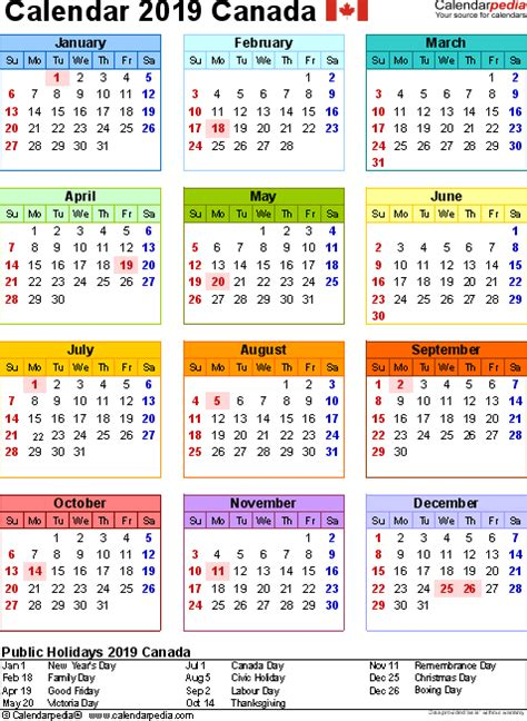 2015 calendar template with canadian holidays canada calendar 2019 free word calendar templates
