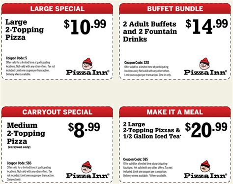 pizza inn 4 printable coupons